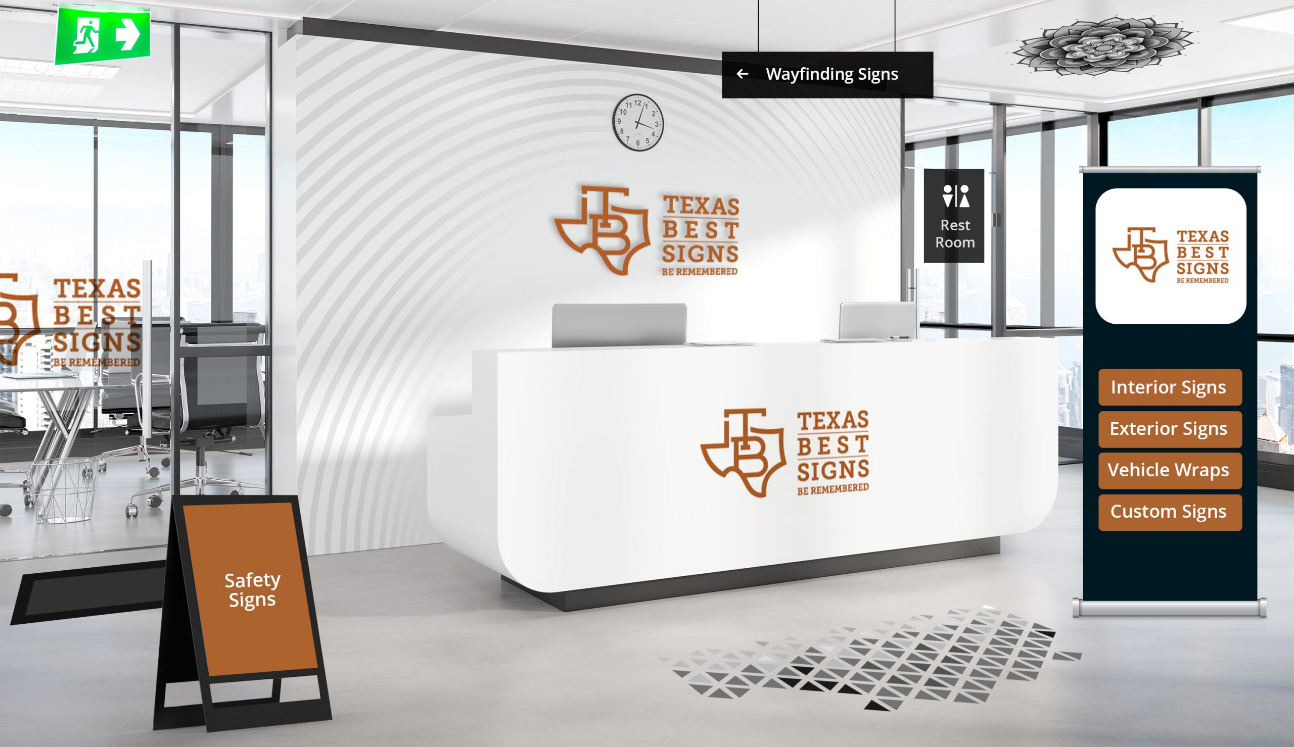 Indoor Virtual Tour Signs